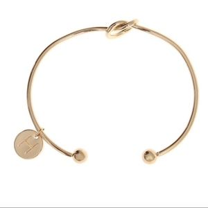 Jewelry - Letter H Infinite Love Knot Gold Bangle Bracelet